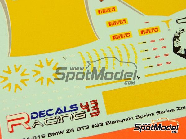 Image 5: BMW Z4 GT3 Roal Motorsport - Zolder DRM 2014   Decoración en escala1/24 fabricado por Racing Decals 43 (ref.RDE24-016)