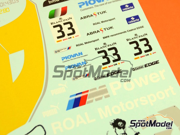 Image 8: BMW Z4 GT3 Roal Motorsport - Zolder DRM 2014   Decoración en escala1/24 fabricado por Racing Decals 43 (ref.RDE24-016)