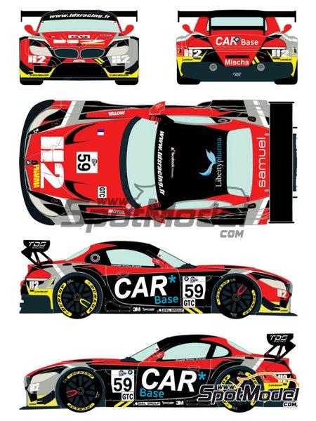 BMW Z4 GT3 Liberypharma - European Le Mans Series 2015 | Decoración en escala1/24 fabricado por Racing Decals 43 (ref.RDE24-019) image