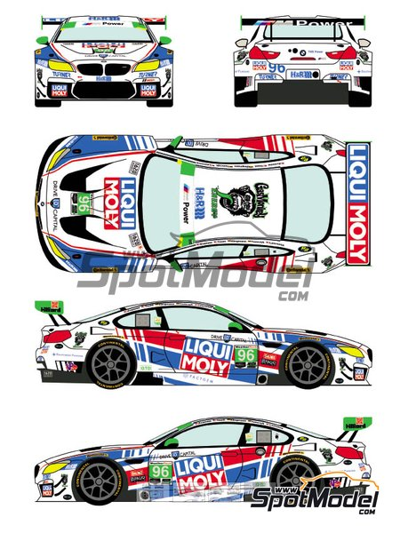 BMW M6 GTD Turner Motorsport Liqui Moly - 24 Hours of Daytona 2018 | Marking / livery in 1/24 scale manufactured by Racing Decals 43 (ref.RDE24-021, also RDE24/021) image