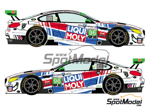 Image 1: BMW M6 GTD Turner Motorsport Liqui Moly - 24 Hours of Daytona 2018 | Marking / livery in 1/24 scale manufactured by Racing Decals 43 (ref.RDE24-021, also RDE24/021)