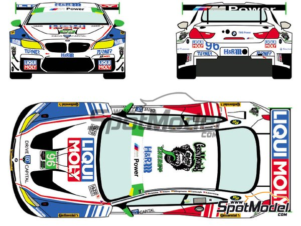 Image 2: BMW M6 GTD Turner Motorsport Liqui Moly - 24 Hours of Daytona 2018 | Marking / livery in 1/24 scale manufactured by Racing Decals 43 (ref.RDE24-021, also RDE24/021)