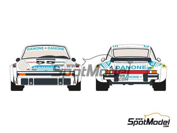 Image 1: Porsche 934 Turbo RSR Group 4 Danone - 24 Horas de Le Mans 1977 | Decoración en escala1/24 fabricado por Racing Decals 43 (ref.RDEC24-001)