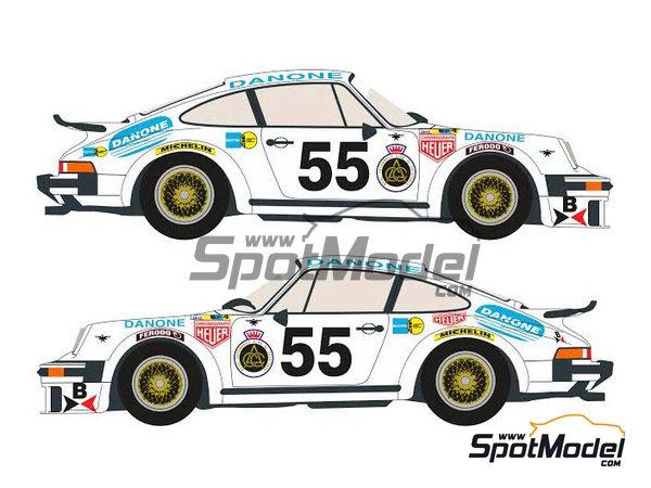 Image 3: Porsche 934 Turbo RSR Group 4 Danone - 24 Horas de Le Mans 1977 | Decoración en escala1/24 fabricado por Racing Decals 43 (ref.RDEC24-001)