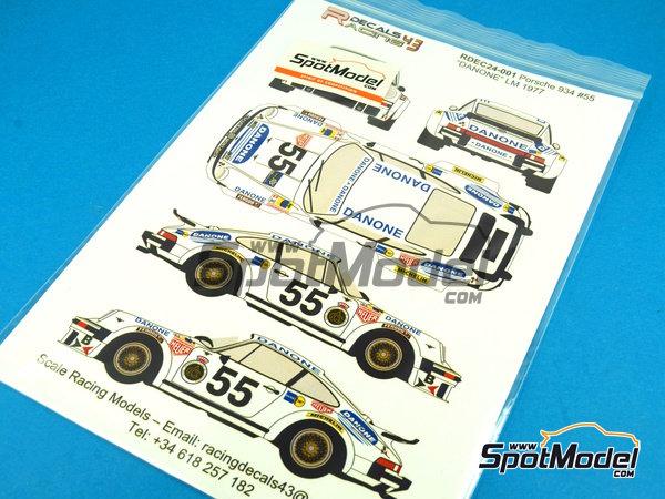 Image 4: Porsche 934 Turbo RSR Group 4 Danone - 24 Horas de Le Mans 1977 | Decoración en escala1/24 fabricado por Racing Decals 43 (ref.RDEC24-001)