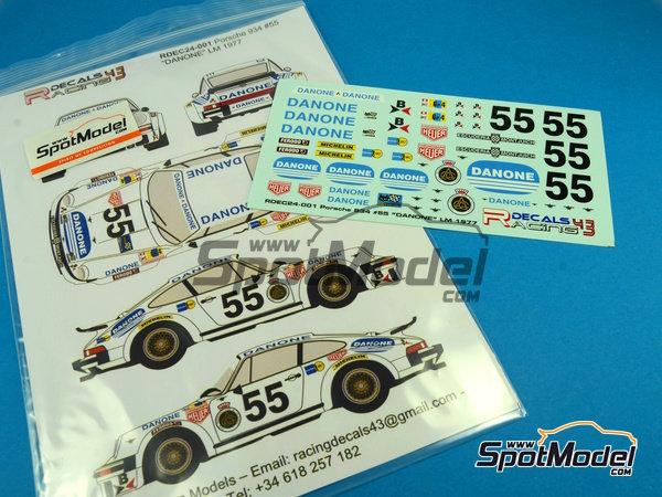 Image 7: Porsche 934 Turbo RSR Group 4 Danone - 24 Horas de Le Mans 1977 | Decoración en escala1/24 fabricado por Racing Decals 43 (ref.RDEC24-001)