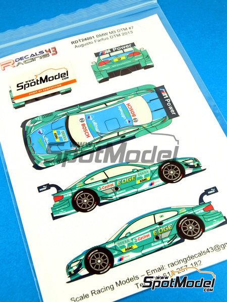 BMW M3 Castrol - DTM 2013 | Marking / livery in 1/24 scale manufactured by Racing Decals 43 (ref.RDT24-001) image