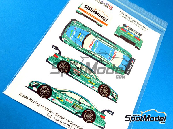 Image 3: BMW M3 Castrol - DTM 2013 | Marking / livery in 1/24 scale manufactured by Racing Decals 43 (ref.RDT24-001)