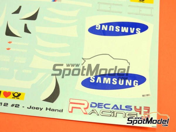 Image 2: BMW M3 Samsung - DTM 2012 | Marking / livery in 1/24 scale manufactured by Racing Decals 43 (ref.RDT24-003)