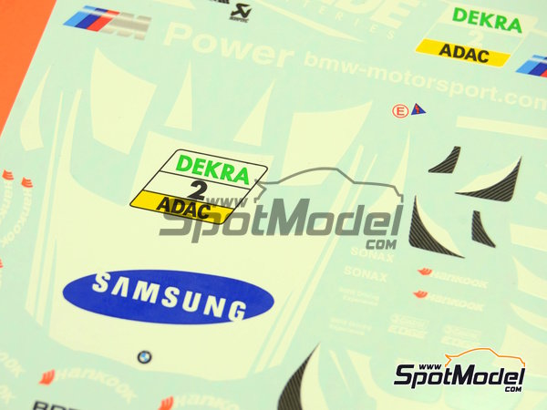 Image 4: BMW M3 Samsung - DTM 2012 | Marking / livery in 1/24 scale manufactured by Racing Decals 43 (ref.RDT24-003)