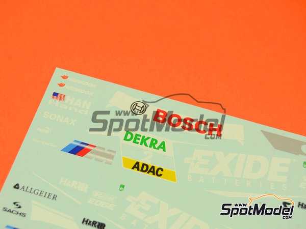 Image 8: BMW M3 Samsung - DTM 2012 | Marking / livery in 1/24 scale manufactured by Racing Decals 43 (ref.RDT24-003)