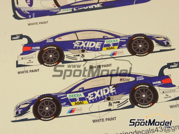 Image 10: BMW M3 Samsung - DTM 2012 | Marking / livery in 1/24 scale manufactured by Racing Decals 43 (ref.RDT24-003)