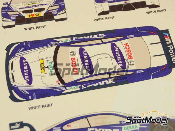 Image 11: BMW M3 Samsung - DTM 2012 | Marking / livery in 1/24 scale manufactured by Racing Decals 43 (ref.RDT24-003)