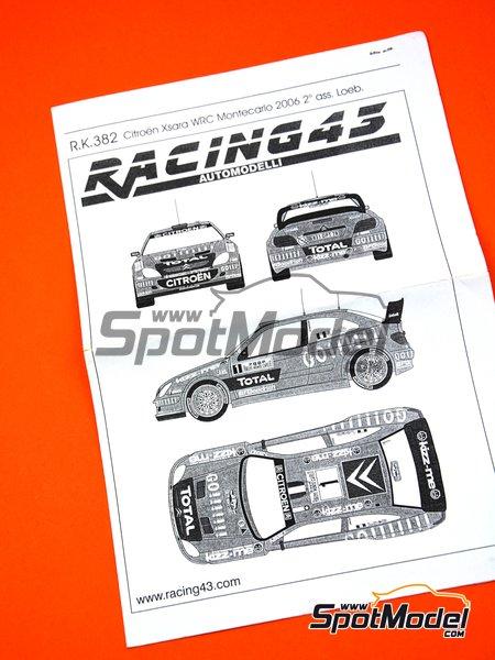 Citroen Xsara WRC Total - Montecarlo Rally - Rallye Automobile de Monte-Carlo 2006 | Marking / livery in 1/43 scale manufactured by Racing43 (ref.R.K.382) image