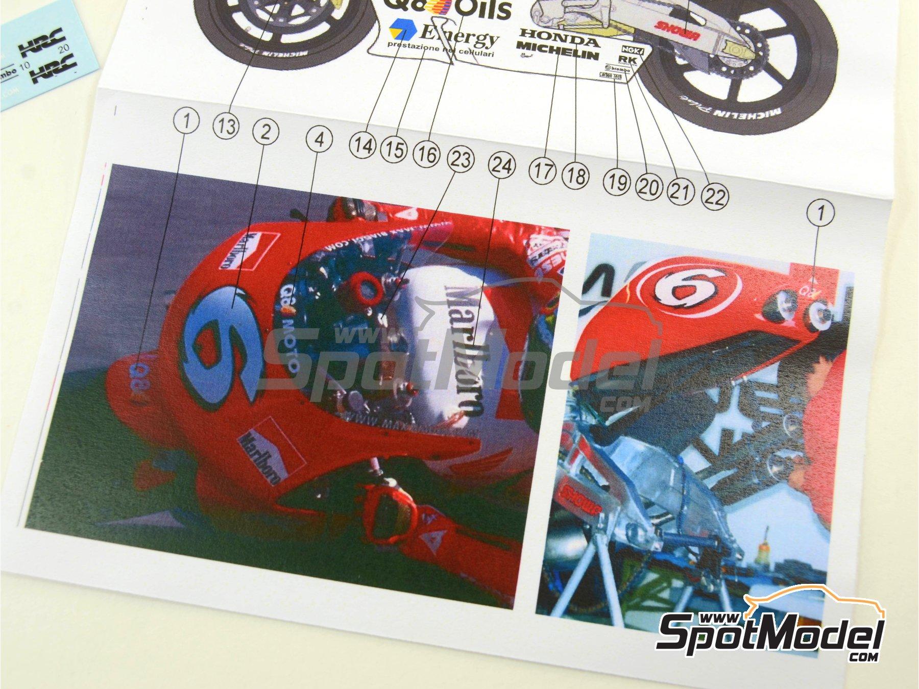 Image 6: Honda NSR500 Marlboro - Brno Formula 1 Grand Prix, Brno Moto GP Grand Prix 1998 | Marking / livery in 1/12 scale manufactured by Reji Model (ref.REJI-017)