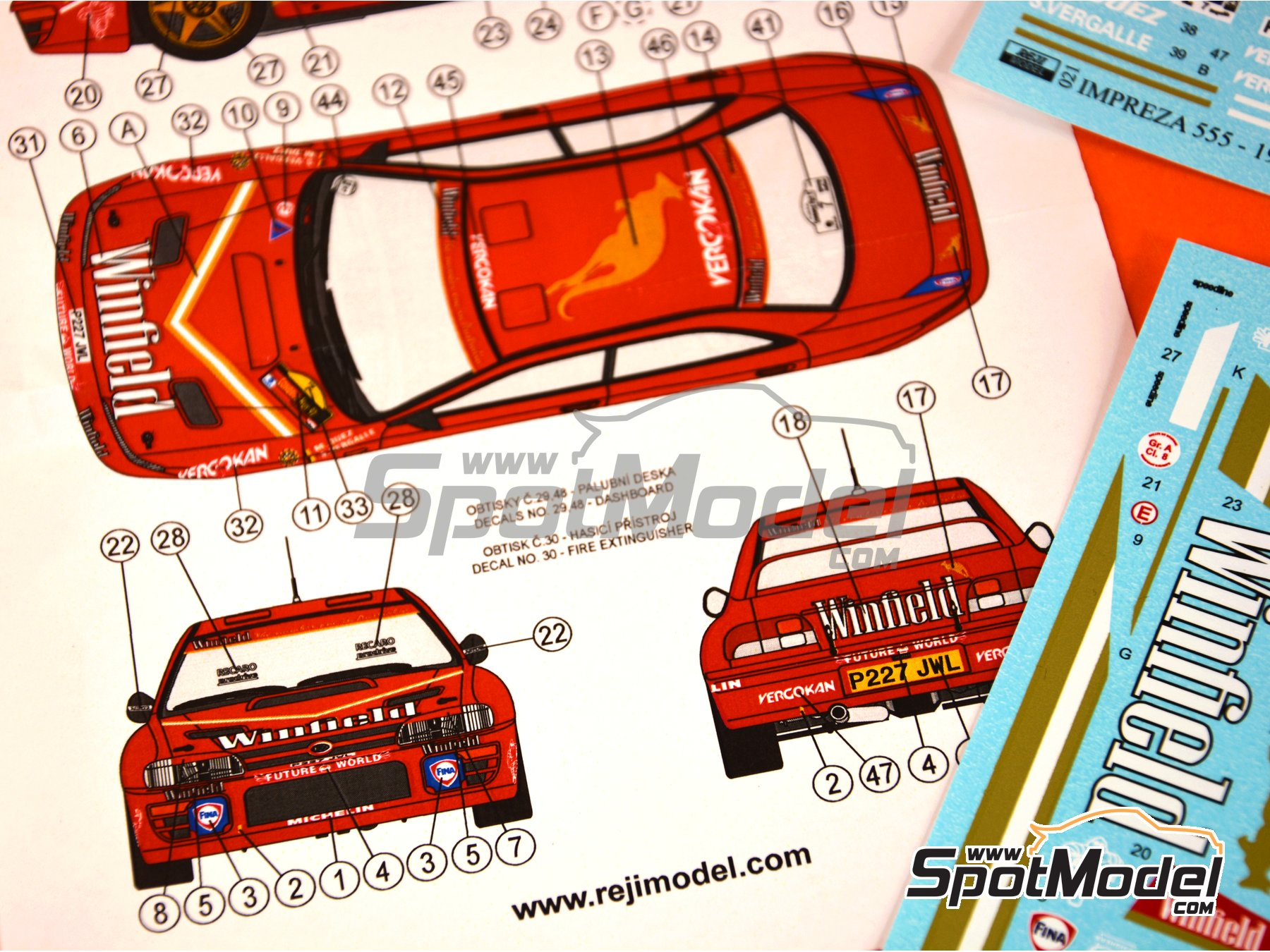 Image 2: Subaru Impreza WRX - Condroz Rally 1997 | Marking / livery in 1/24 scale manufactured by Reji Model (ref. REJI-021)