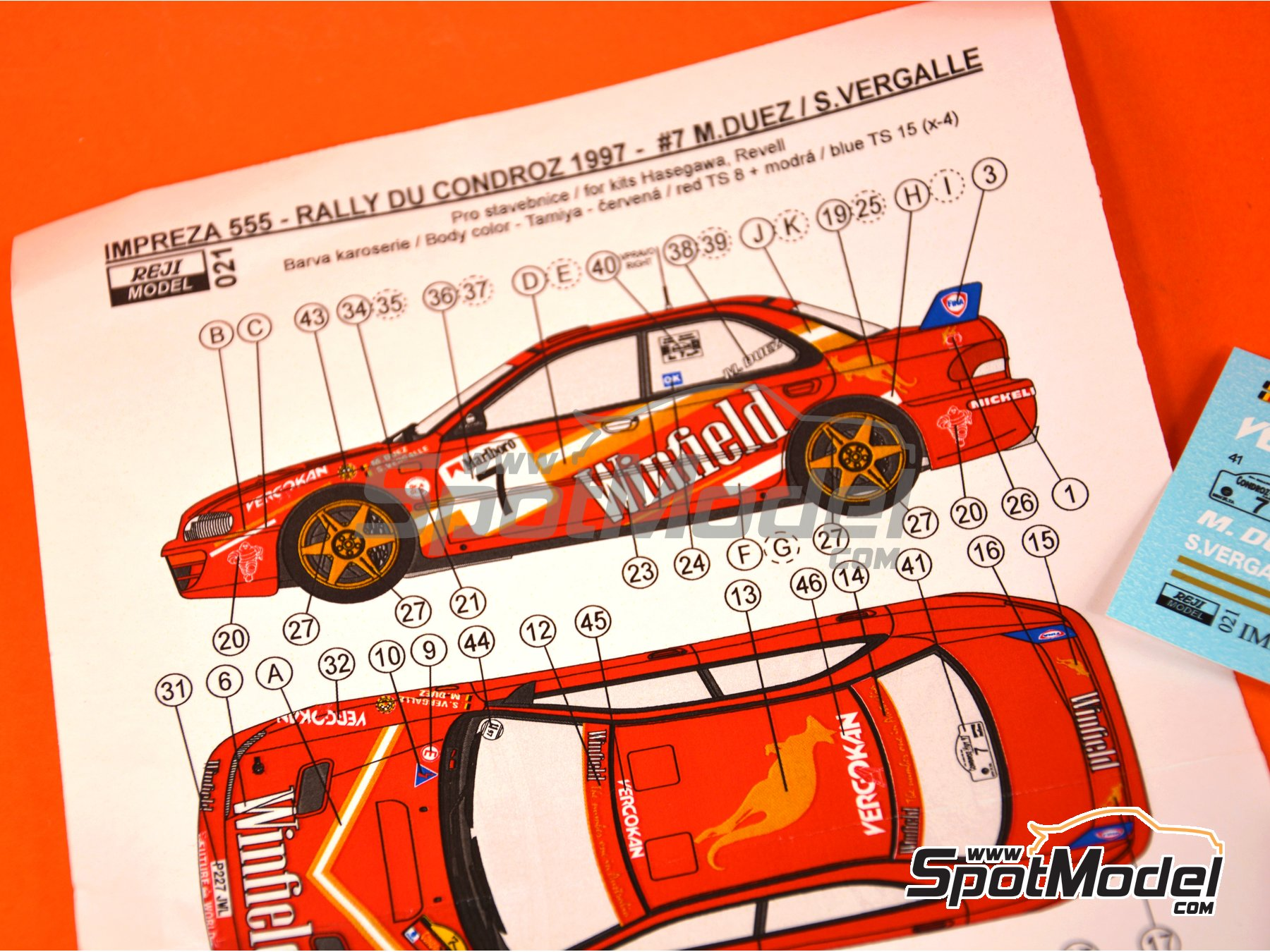 Image 3: Subaru Impreza WRX - Condroz Rally 1997 | Marking / livery in 1/24 scale manufactured by Reji Model (ref. REJI-021)