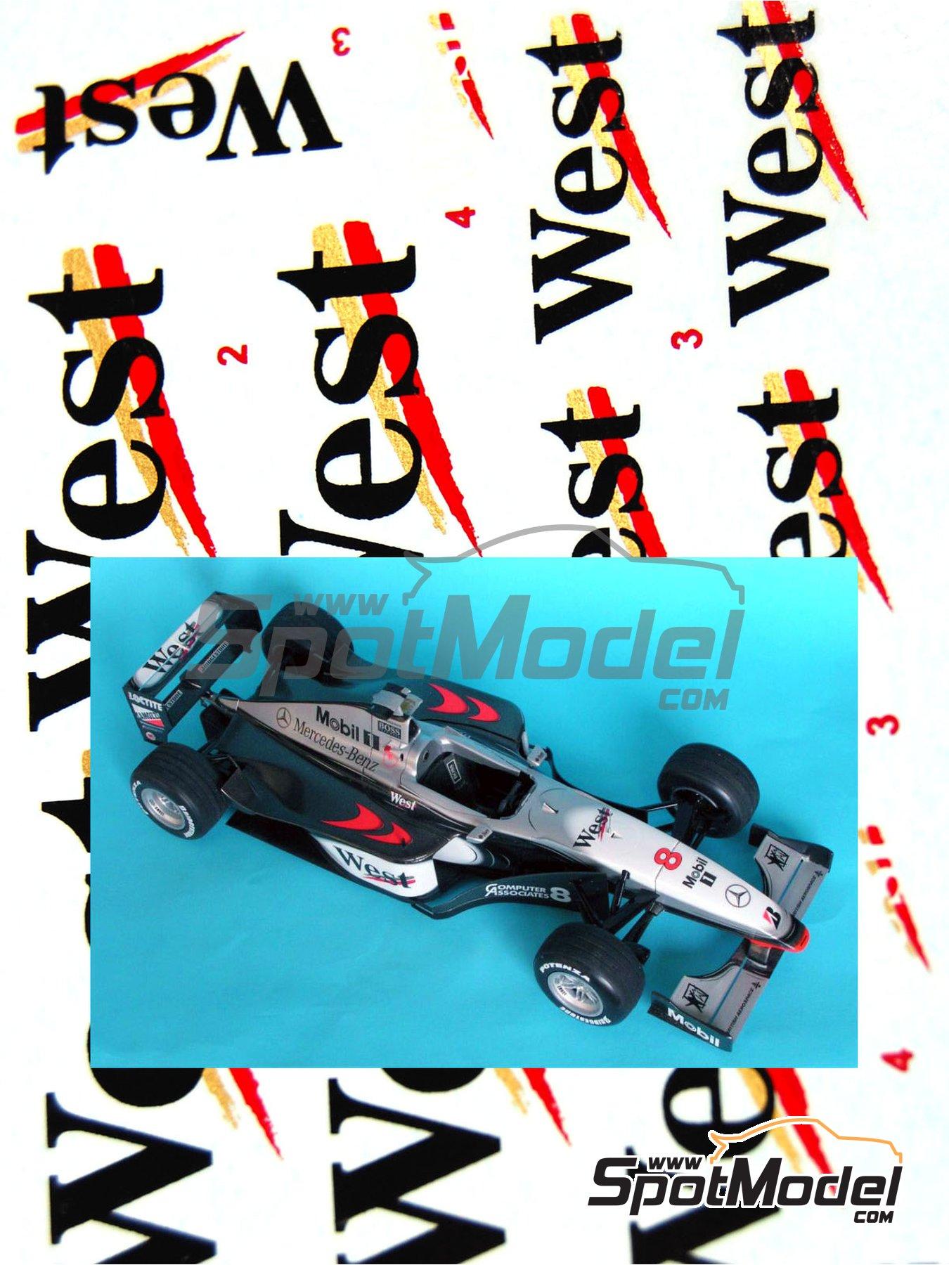 McLaren Mercedes MP4/13 West - FIA Formula 1 World Championship 1998 | Marking / livery in 1/20 scale manufactured by Reji Model (ref.REJI-025) image