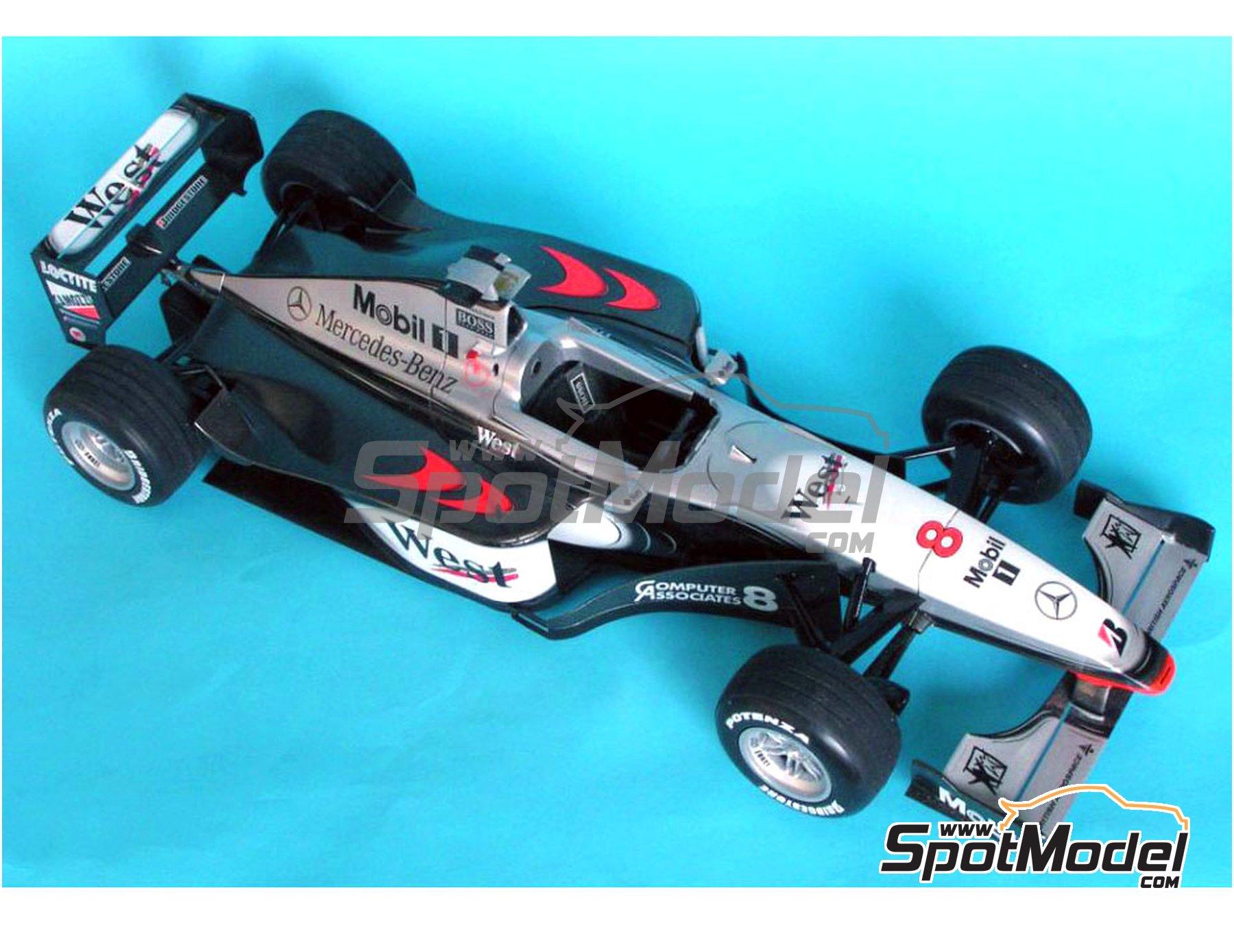 Image 1: McLaren Mercedes MP4/13 West - Campeonato del Mundo de Formula1 1998 | Decoración en escala1/20 fabricado por Reji Model (ref.REJI-025)