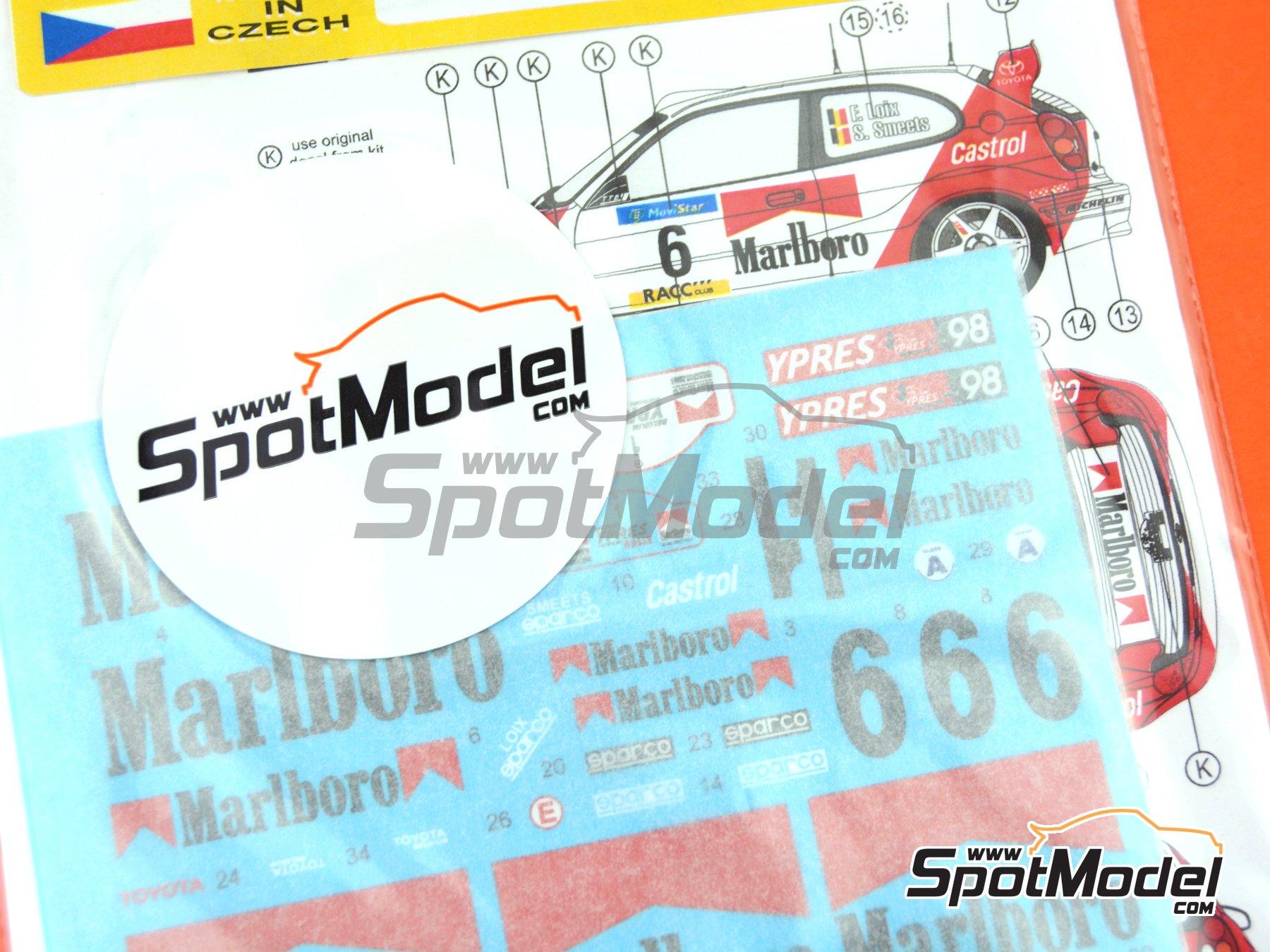 Image 4: Toyota Corolla WRC Marlboro - Rally de Cataluña Costa Dorada RACC 1998 | Decoración en escala1/24 fabricado por Reji Model (ref.REJI-027)