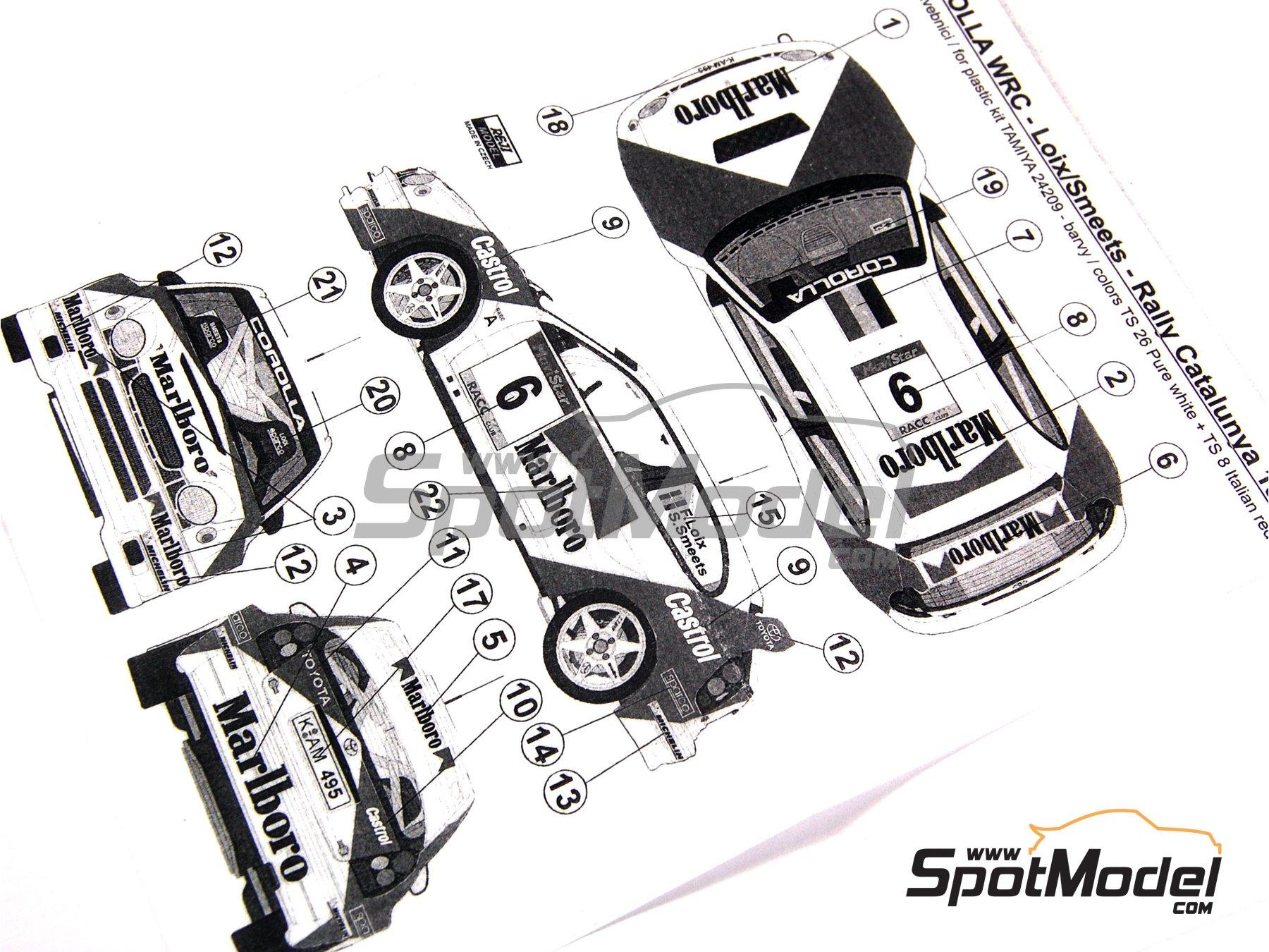 Image 7: Toyota Corolla WRC Marlboro - Rally de Cataluña Costa Dorada RACC 1998 | Decoración en escala1/24 fabricado por Reji Model (ref.REJI-027)