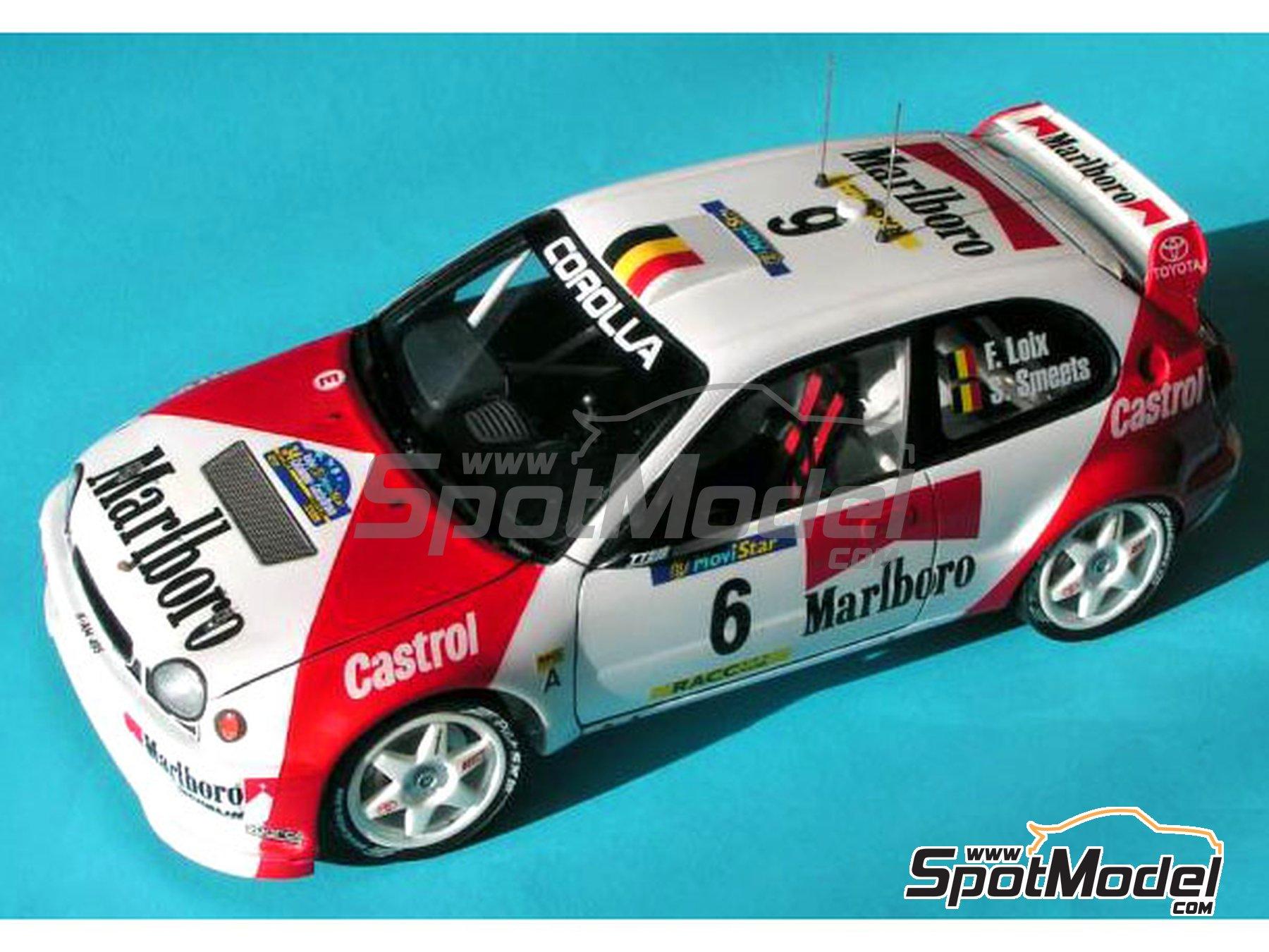 Image 8: Toyota Corolla WRC Marlboro - Rally de Cataluña Costa Dorada RACC 1998 | Decoración en escala1/24 fabricado por Reji Model (ref.REJI-027)