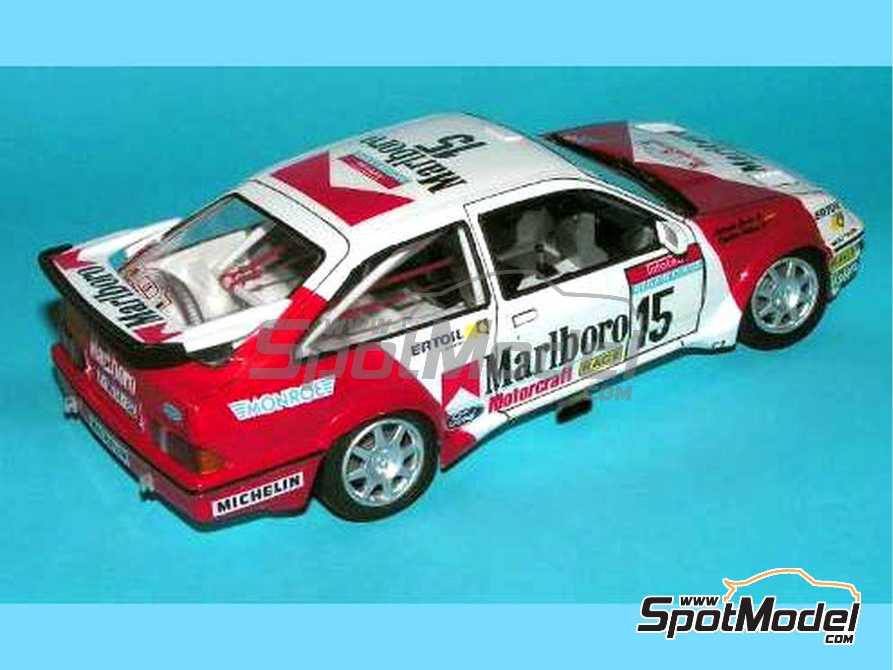 Image 3: Ford Sierra 500 RS Marlboro - Rally Tour de Corse 1987 | Decoración en escala1/24 fabricado por Reji Model (ref.REJI-034)