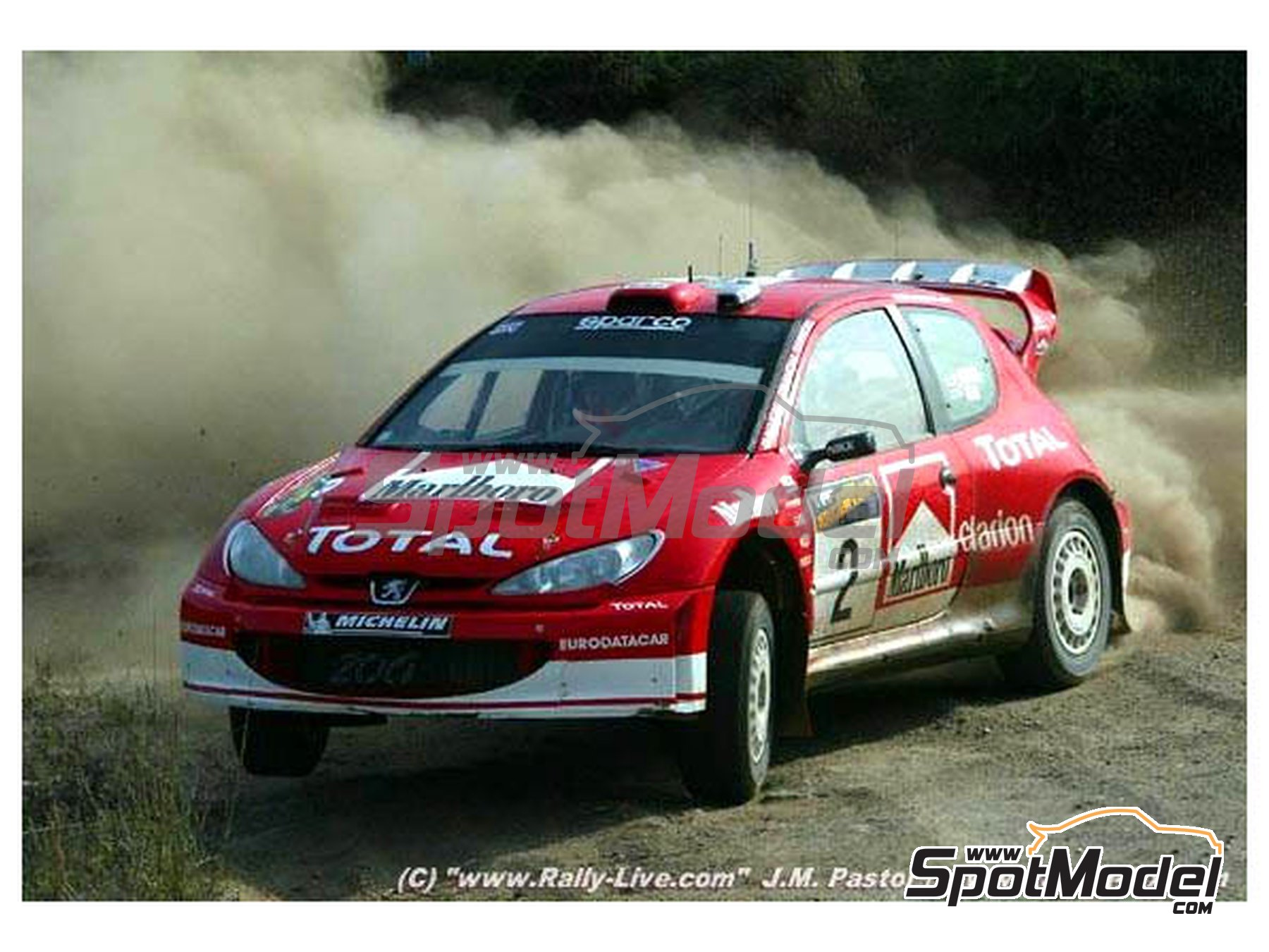 Image 6: Peugeot 206 WRC - Argentina rally 2003 | Marking / livery in 1/24 scale manufactured by Reji Model (ref. REJI-062)