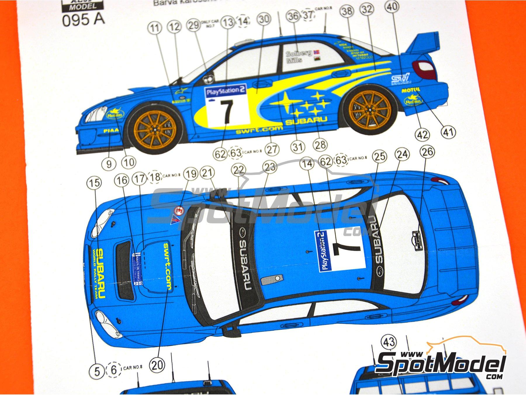 Image 4: Subaru Impreza WRC - Rally Tour de Corse 2003 | Decoración en escala1/24 fabricado por Reji Model (ref.REJI-095A)