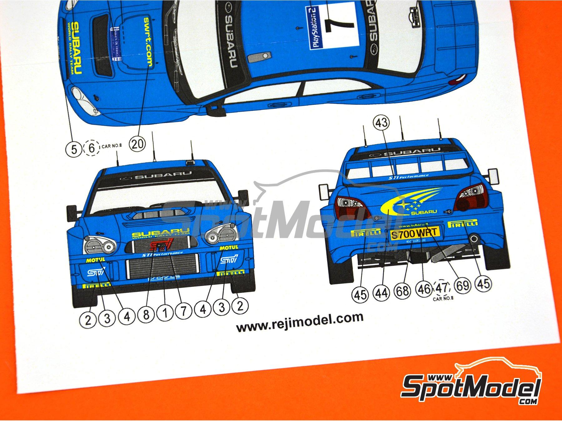 Image 5: Subaru Impreza WRC - Rally Tour de Corse 2003 | Decoración en escala1/24 fabricado por Reji Model (ref.REJI-095A)