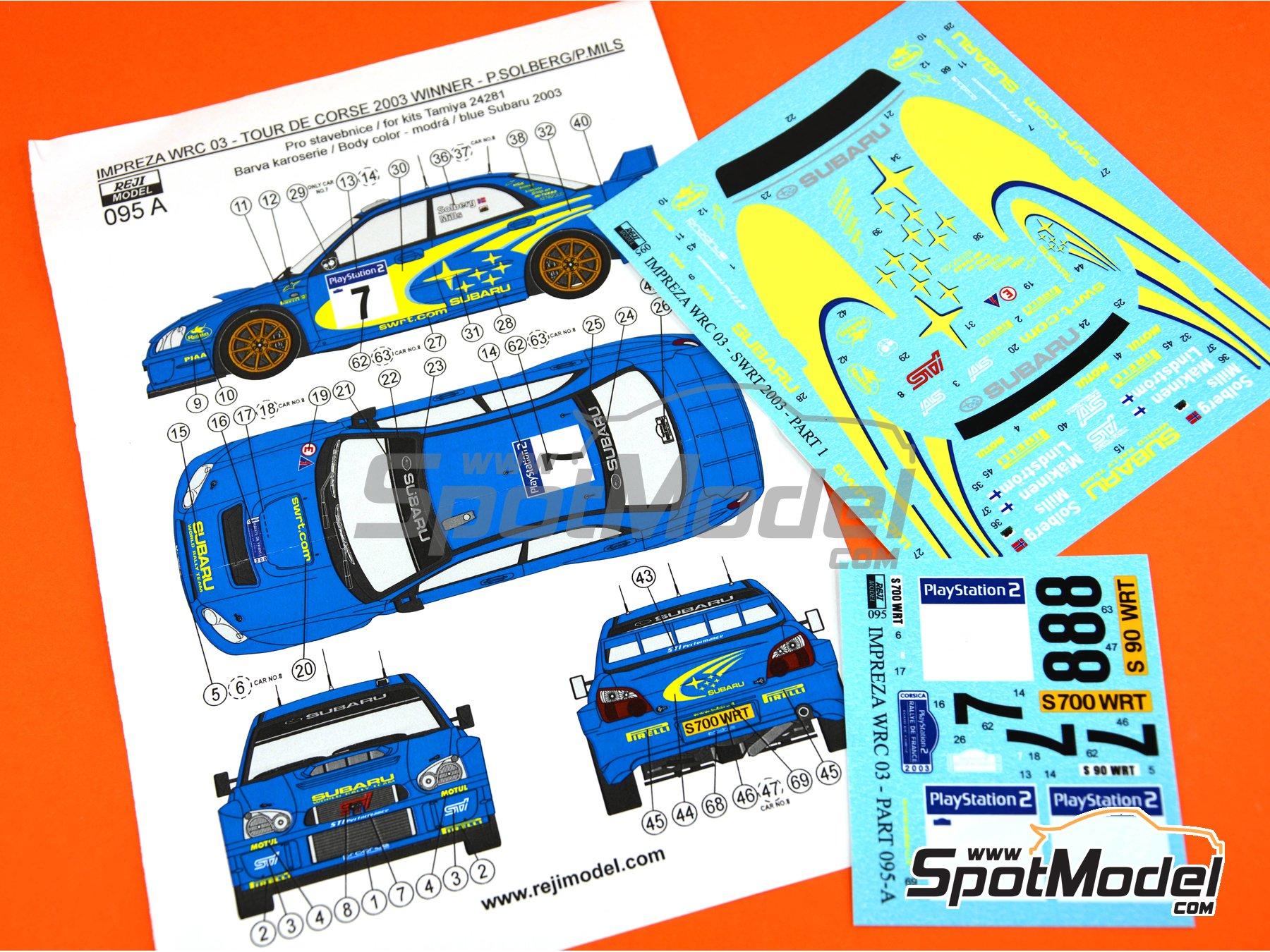 Image 6: Subaru Impreza WRC - Rally Tour de Corse 2003 | Decoración en escala1/24 fabricado por Reji Model (ref.REJI-095A)