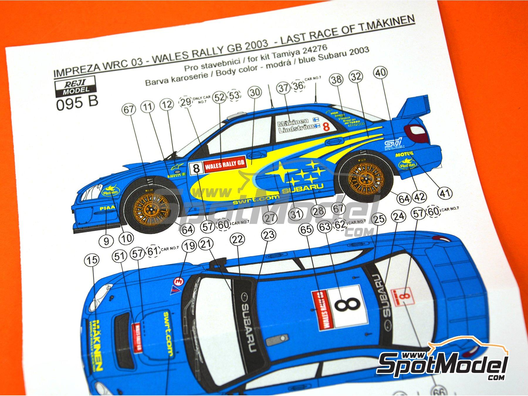 Image 3: Subaru Impreza WRC - Rally de Gales 2003 | Decoración en escala1/24 fabricado por Reji Model (ref.REJI-095B)