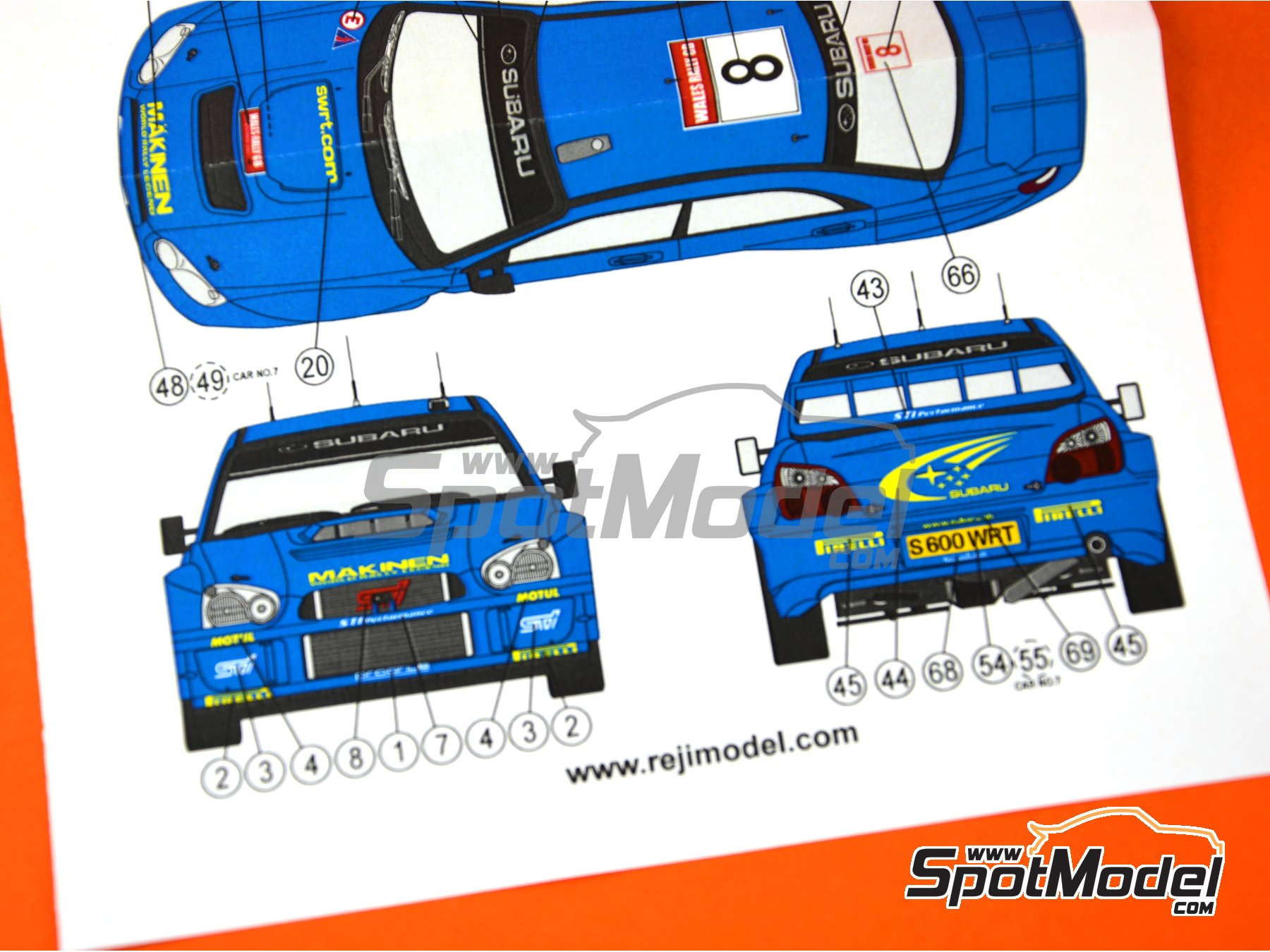 Image 4: Subaru Impreza WRC - Rally de Gales 2003 | Decoración en escala1/24 fabricado por Reji Model (ref.REJI-095B)