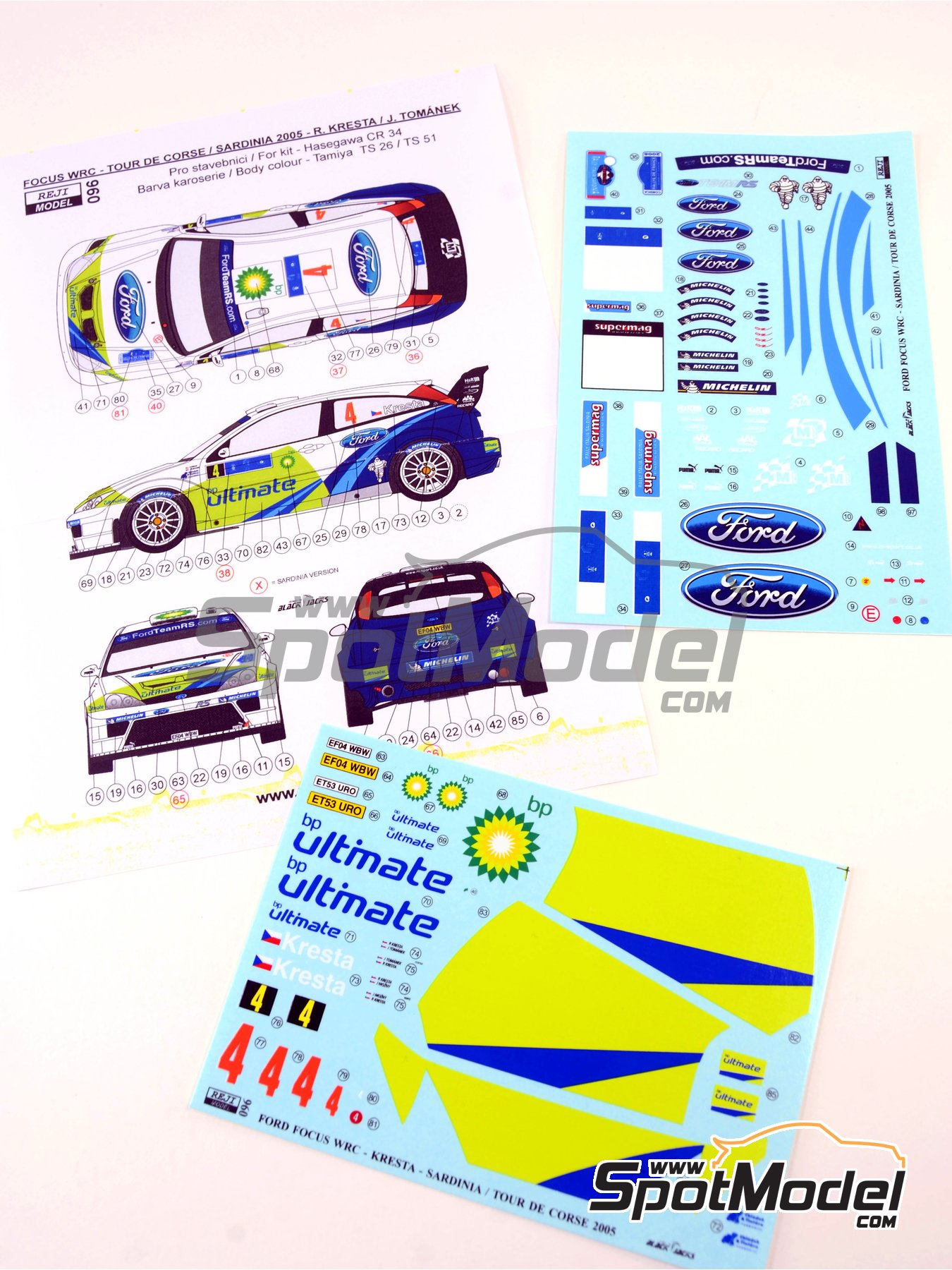 Ford Focus WRC BP - Tour de Corse 2005 | Marking / livery in 1/24 scale manufactured by Reji Model (ref.REJI-096) image