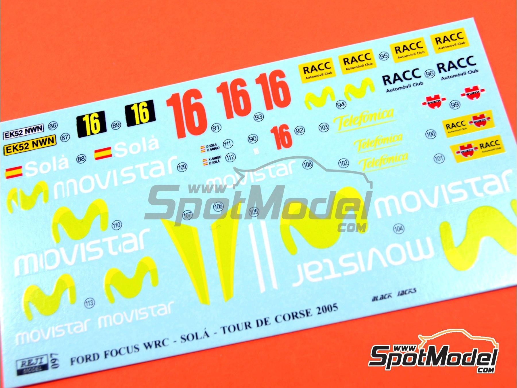 Image 5: Ford Focus WRC Movistar - Tour de Corse 2005 | Marking / livery in 1/24 scale manufactured by Reji Model (ref.REJI-097)