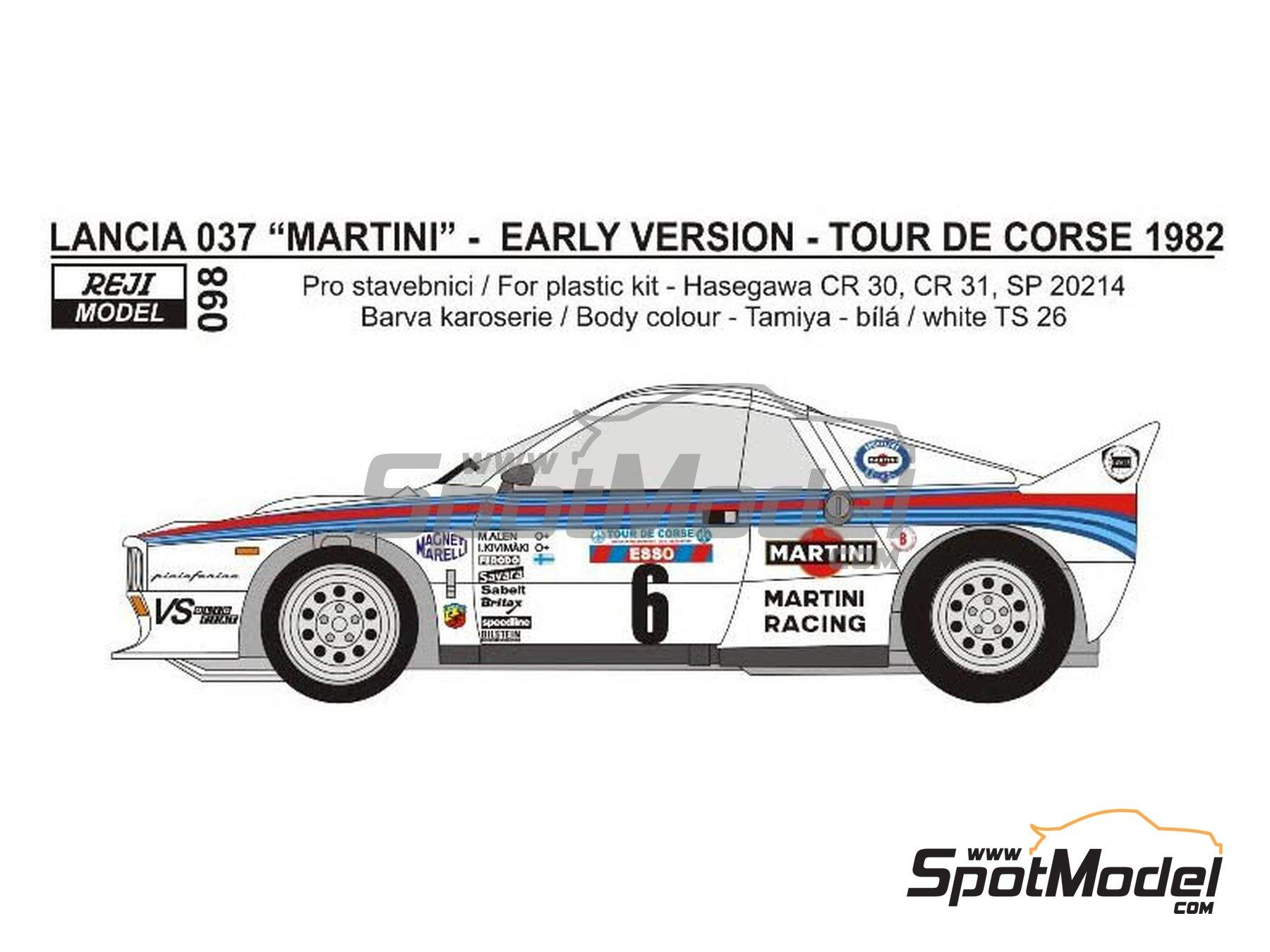 Image 1: Lancia 037 Rally Martini - Rally Tour de Corse 1982 | Transkit en escala1/24 fabricado por Reji Model (ref.REJI-098)