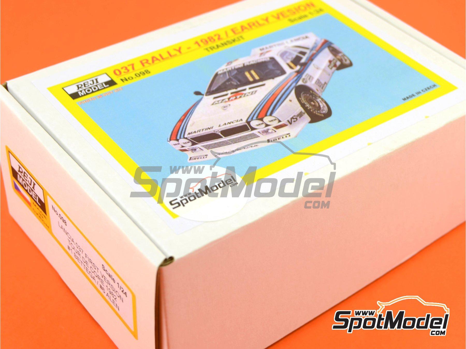 Image 2: Lancia 037 Rally Martini - Rally Tour de Corse 1982 | Transkit en escala1/24 fabricado por Reji Model (ref.REJI-098)