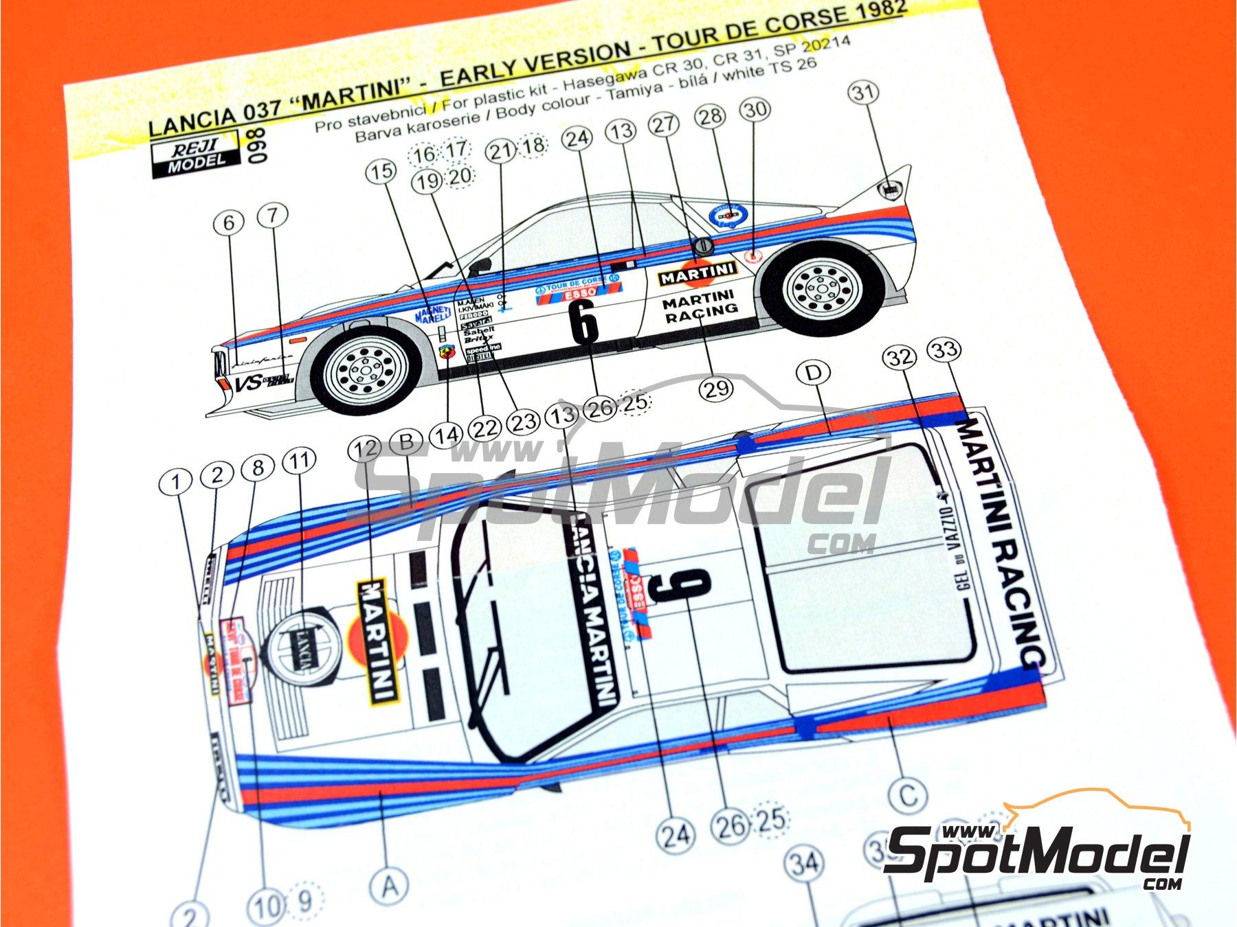 Image 4: Lancia 037 Rally Martini - Rally Tour de Corse 1982 | Transkit en escala1/24 fabricado por Reji Model (ref.REJI-098)