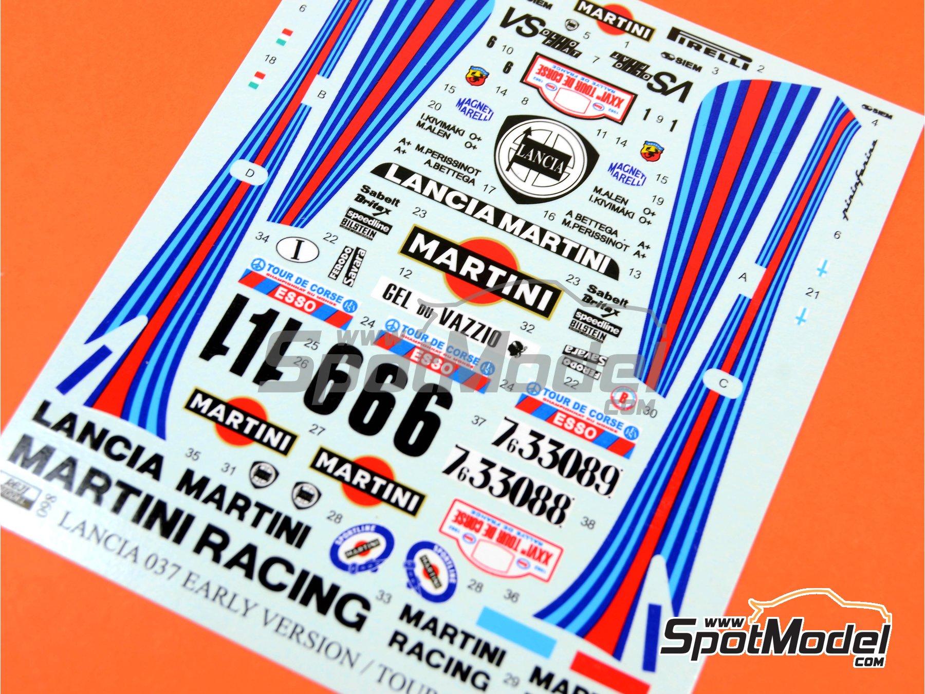 Image 8: Lancia 037 Rally Martini - Rally Tour de Corse 1982 | Transkit en escala1/24 fabricado por Reji Model (ref.REJI-098)