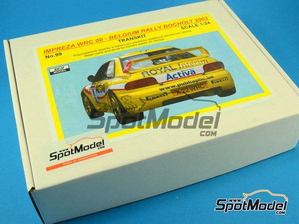 Image 1: Subaru Impreza WRC Activa - Rally Sezoens Belgica 2003 | Decoración en escala1/24 fabricado por Reji Model (ref.REJI-099)