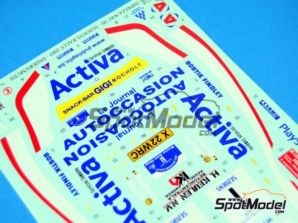 Image 6: Subaru Impreza WRC Activa - Rally Sezoens Belgica 2003 | Decoración en escala1/24 fabricado por Reji Model (ref.REJI-099)