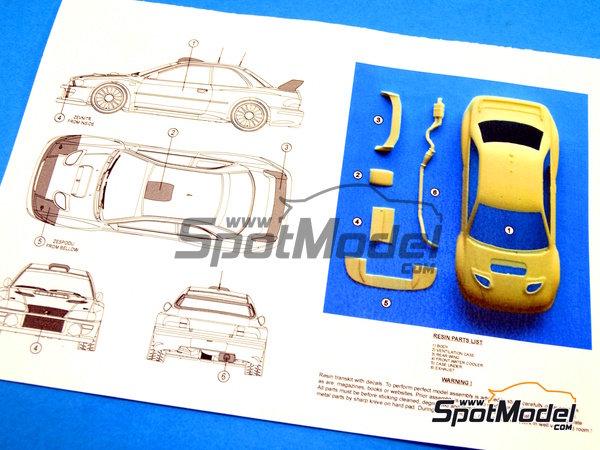 Image 8: Subaru Impreza WRC Activa - Rally Sezoens Belgica 2003 | Decoración en escala1/24 fabricado por Reji Model (ref.REJI-099)