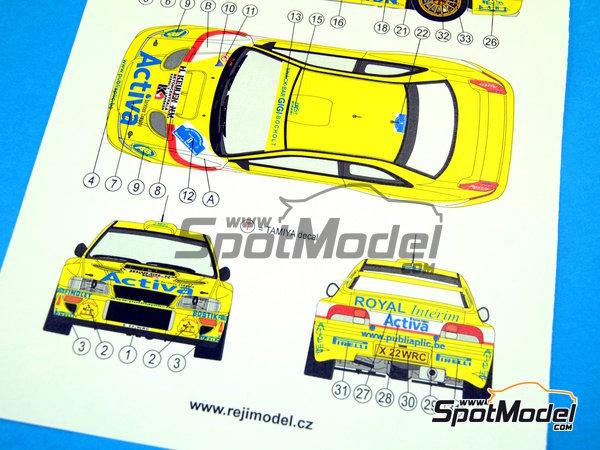 Image 10: Subaru Impreza WRC Activa - Rally Sezoens Belgica 2003 | Decoración en escala1/24 fabricado por Reji Model (ref.REJI-099)