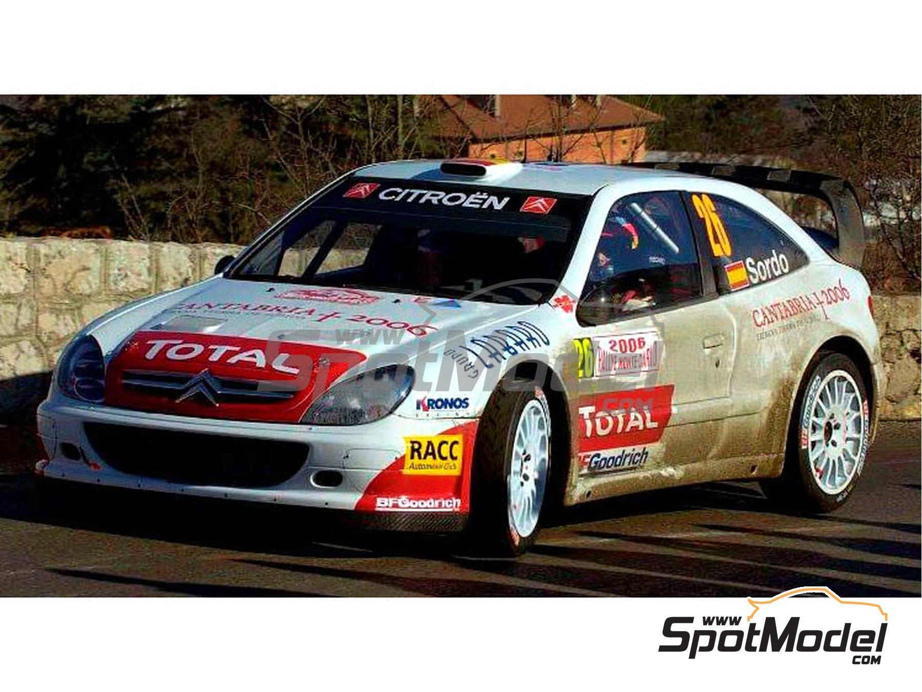 Image 3: Citroen Xsara WRC Kronos - Montecarlo Rally, Svezia Sweden Rally 2006 | Marking / livery in 1/24 scale manufactured by Reji Model (ref.REJI-102)