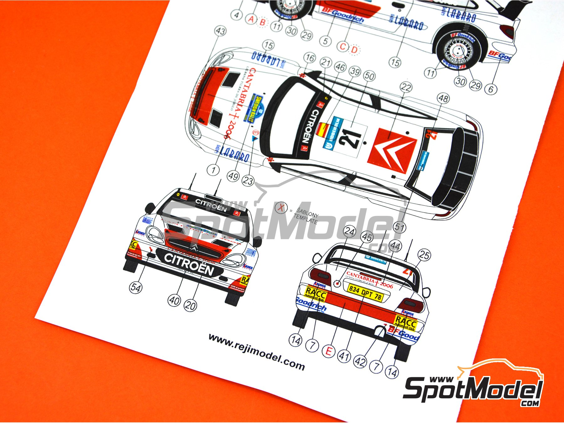 Image 6: Citroen Xsara WRC Kronos - Montecarlo Rally, Svezia Sweden Rally 2006 | Marking / livery in 1/24 scale manufactured by Reji Model (ref.REJI-102)