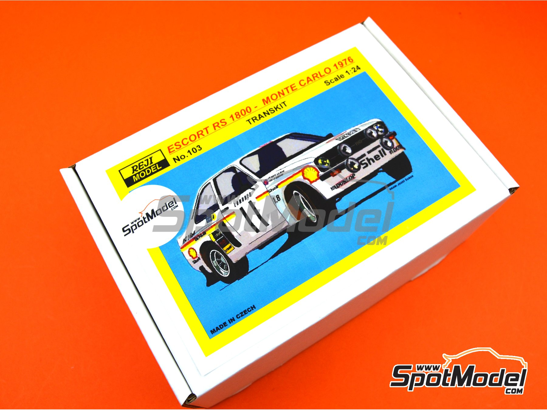 Image 13: Ford Escort Mk. II RS1800 Shell - Montecarlo Rally 1976 | Marking / livery in 1/24 scale manufactured by Reji Model (ref.REJI-103)