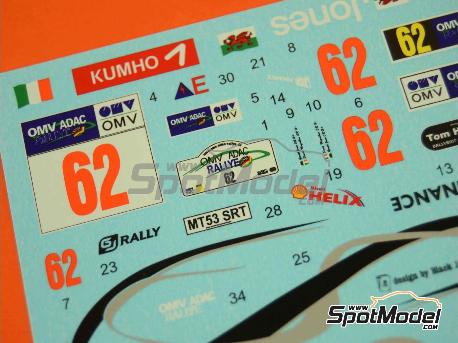 Image 4: Subaru Impreza WRC JCB Finance - Rally de Alemania ADAC 2006 | Decoración en escala1/24 fabricado por Reji Model (ref.REJI-118)