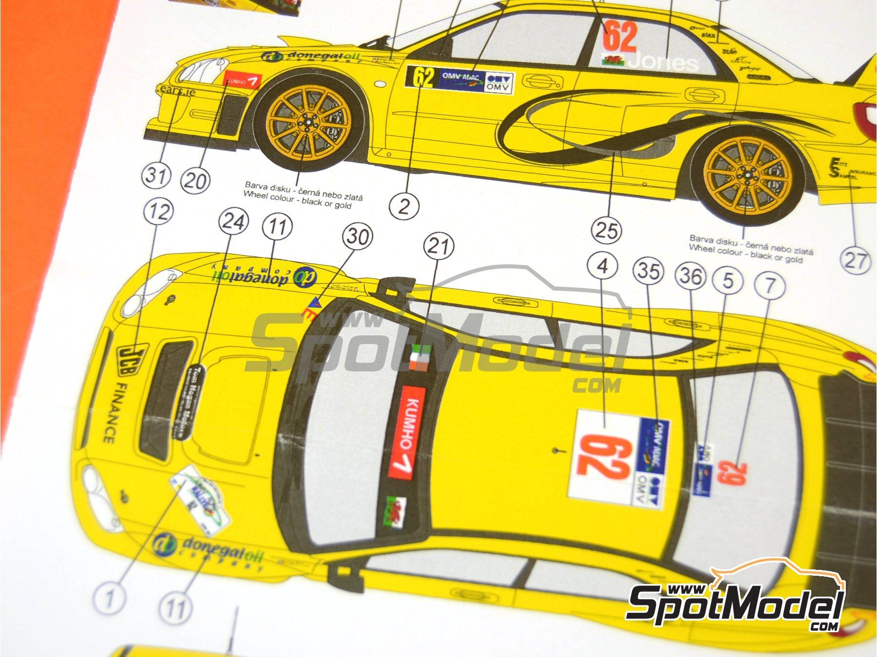 Image 7: Subaru Impreza WRC JCB Finance - Rally de Alemania ADAC 2006 | Decoración en escala1/24 fabricado por Reji Model (ref.REJI-118)