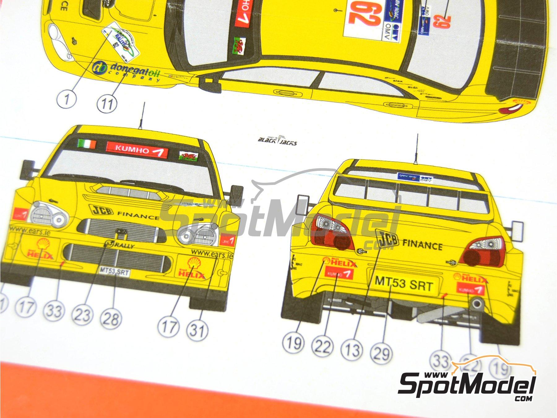Image 8: Subaru Impreza WRC JCB Finance - Rally de Alemania ADAC 2006 | Decoración en escala1/24 fabricado por Reji Model (ref.REJI-118)