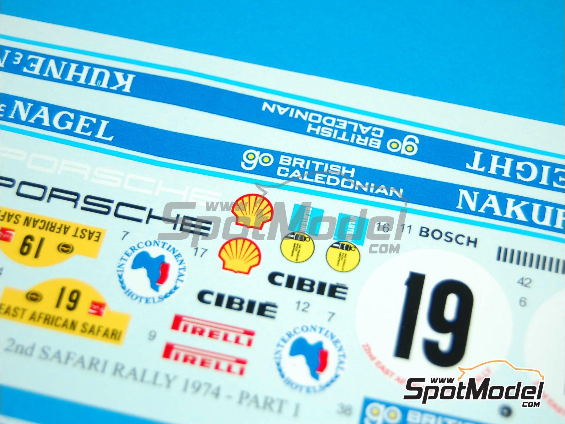 Image 4: Porsche 911 2.7 RS Nakufreight - Rally Safari 1974 | Decoración en escala1/24 fabricado por Reji Model (ref.REJI-120)